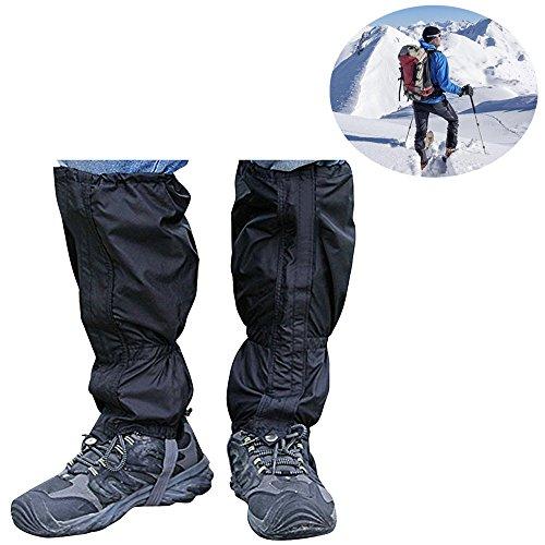 yihengya Yihya Un Paio 2 PCS Unisex Impermeabile Traspirante Ghette Gaiters Legging Ghette Arrampicata Campeggio Caccia Escursionismo Protettivo Ghetta Anti-Neve e Anti-Pioggia