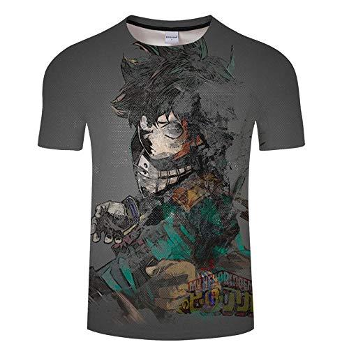 T-Shirts Moda Unisex Anime De Impresión 3D My Hero Academia Manga Corta Hombres Camiseta Gráfico Camisetas De Verano Cuello Redondo Tops Mezcla De Colores M