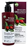 Avalon Organics Wrinkle Therapy With Coq10 & Rose, Hip Firming Body Lotion, 8 Ounce
