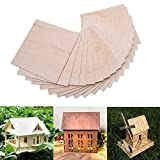 COLIBROX 15 Pack Wood Sheets, Wood Sheets Hobby Wood MDF DIY Wood Board for...