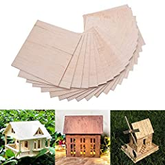 Balsa sheet is made of high quality wood, offers exceptional durability, rigidity, and stability, it is essential model and DIY materials. Wood sheet size approx. 150 x 100mm/ 5.9 x 3.9 inch, thickness: approx. 2mm / 0.08 inch; Enough to stand alone ...