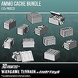 EnderToys - Caja de munición, Paisaje Terreno para Mesa de 28 mm, miniaturas de Juego de Guerra,...