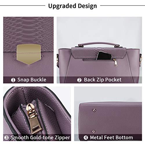 Aktentasche für Damen 15.6 Laptop Tasche Business Messenger Bag Arbeit Tote Bag Professionelle Schultertasche mit gepolstertem Fach für Tablet Notebook Ultrabook Lila