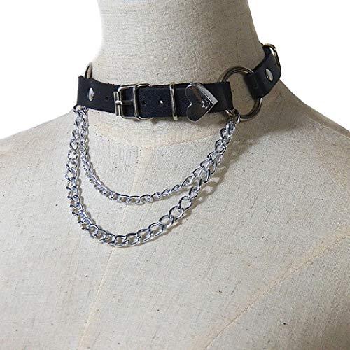 Womens Choker Fashion Kreative Dual-Layer-Kette Charm Halskette Schlüsselbein Halskette