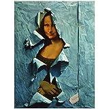 JLFDHR Parodia Mona Lisa Graffiti Arte Lienzo Pintura Retrato Cartel Impresiones Pared Arte Imagen Vintage decoración del hogar-60x90cmx1 sin Marco