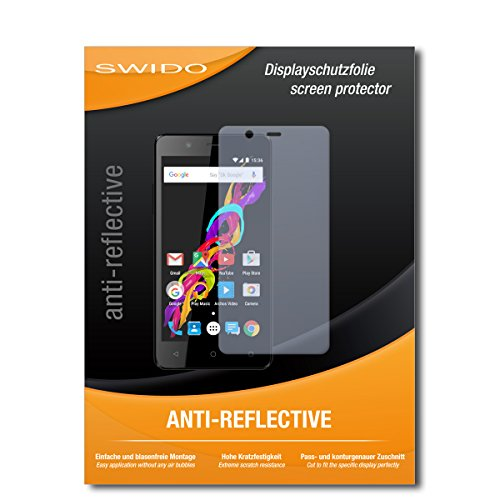 SWIDO Schutzfolie für Archos 50 Titanium 4G [2 Stück] Anti-Reflex MATT Entspiegelnd, Hoher Festigkeitgrad, Schutz vor Kratzer/Bildschirmschutz, Bildschirmschutzfolie, Panzerglas-Folie