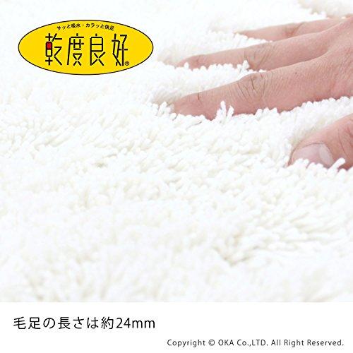 オカ乾度良好Dナチュレレギュラーサイズトイレマット約65×65cm(ホワイト)