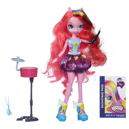 My little Pony Spielzeug – Equestria Girls – Rainbow Rocks – Singen Pinkie Pie Deluxe Fashion Puppe
