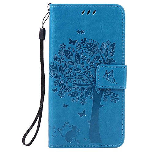 BoxTii® Coque Huawei P9 Lite, Huawei P9 Lite Magnetic Housse Coque, Etui pour Huawei P9 Lite (#5 Bleu)