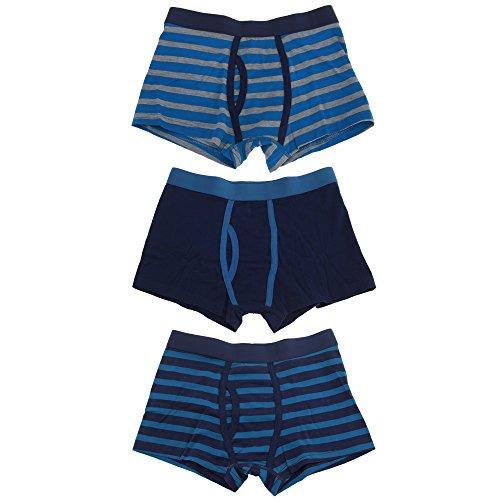 Tom Franks Jungen Unterhosen mit seiten Eingriff (3 Stück) (9/10 Jahre) (Marine/Blau)