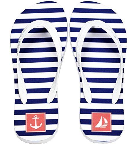 Palupas Segelbekleidung | Yachtkleidung für Damen & Herren mit Motiv Blues Stripes - Segel Flips