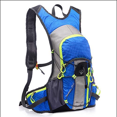 MH-RING 15L Zaino per Bicicletta Impermeabile, Zaini per Ciclismo Leggero per Uomini e Donne Che Viaggiano All'aperto e in Campeggio con Sacca d'Acqua Backpack (Color : Blue)