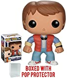 Funko Pop! Movies: Back to The Future - Marty McFly Vinyl Figure (Bundled with Pop Box Protector Case)