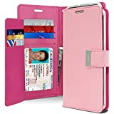 Goospery Rich Wallet for Samsung Galaxy Note 8 Case (2017) Extra Card Slots Leather Flip Cover (Pink) NT8-RIC-PNK