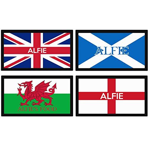 Tapete Personalizado para comedero de Mascotas, diseño de Bandera británica, Escocesa, galesa, Inglesa