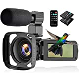 CamVeo 2.7K Video Camera Camcorder, Vlogging Camera with 16X powerful zoom and 36 Mega pixels IR Night Vision Digital, Camera Recorder with 3.0 inch LCD Touch Screen