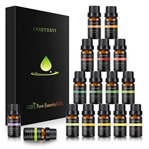 Essentielle Öle Geschenkset (16 x 10ml), MayBeau 100% Pure Therapeutic Grade Starter Pack - Verwendet für Luftbefeuchter, Massage, Aromatherapie, Haut- und Haarpflege,...