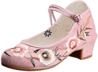 Inlefen Female Chinese Style Solid Color Oxford Sole Embroidered Cloth Shoes