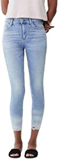 Rocket High Rise Skinny Ankle Crop Faded Jeans, Waterfall - 29