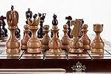 Wooden Magic Real - Grande 48cm/18,9 en Hechos a Mano el Conjunto del ajedrez Madera Cerezo
