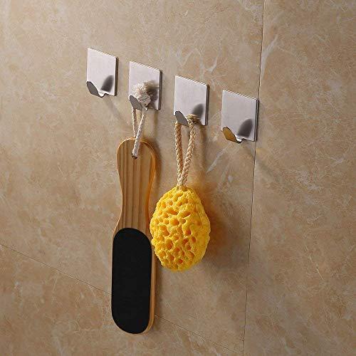 UHK Lysqva Bathroom Supplies Toilette-Salle de Bains Kes A7062-P4 Salle de Bains Serviette Auto-adhésive Crochet Adhésif 3M, Acier Inoxydable brossé, pièces