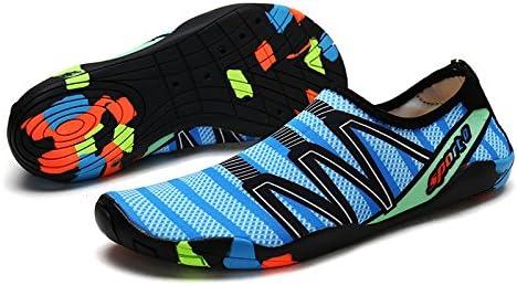 DoGeek Scarpe da Nuoto Water Shoes Scarpe per Sport Acquatici Scarpe Nero Giardini Acqua Scarpe Uomo da Pantofole Spiaggia Pelle Sandali