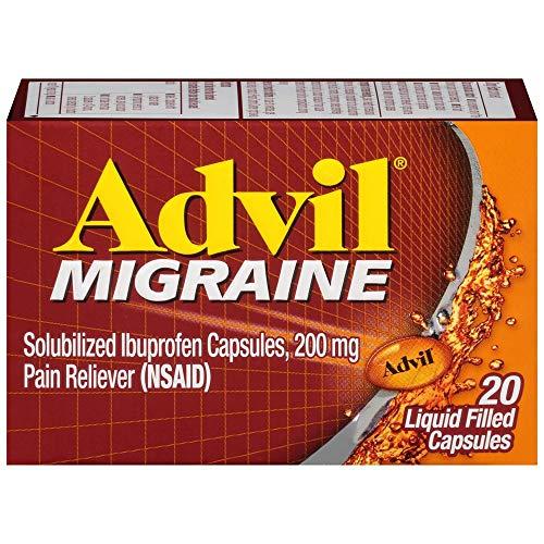 Advil Migrain 20'S Size 20ct Advil Migraine Pain Relief Liquid Filled Capsules 20ct