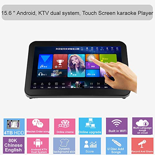 Amazing Deal HAJURIZ 15.6'' Karaoke Player,Songs Machine,Touch Screen,4TB HDD,80K Songs,Chinese,Engl...