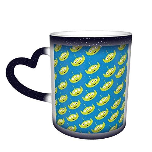 Tazza cambia colore, motivo: Aliens of Toy Story Design cambia colore tazza da tè per amici di festival regalo, blu