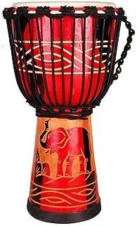 MCRDAE 10 Pulgadas Tallado a Mano Bongo Congo Djembe Tambor, de niños Principiantes Profesional de Percusión, de Estilo Africano de Piel de Cabra pandereta 0211 (Color : B)