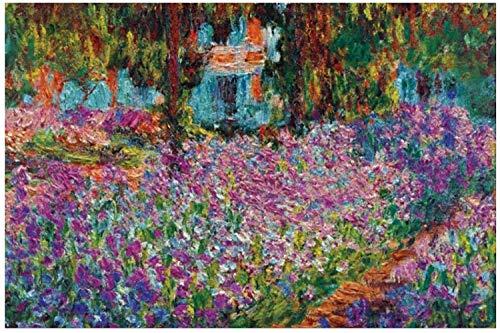 TLMYDD Monet Iris En Monedas Jardín Puzzles para Adultos, 1000 Piezas Niños Jigsaw Puzzles Juega Juguetes Regalo para Niños Niños Y Niñas, 20