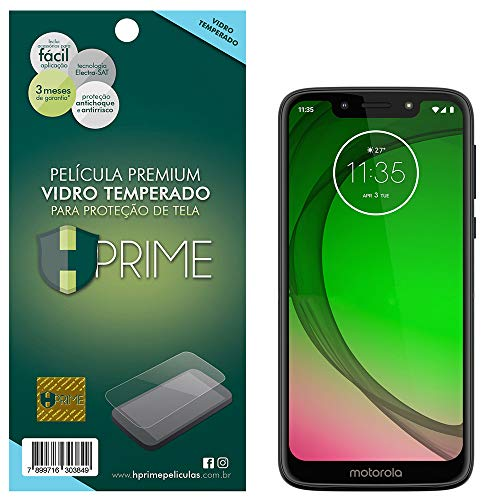 Pelicula de Vidro Temperado 9H para Motorola Moto G7 Play, Hprime, Película Protetora de Tela para Celular, Transparente