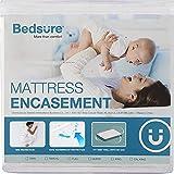 Bedsure Mattress Cover Twin XL Zippered Mattress Protector Waterproof Mattress Encasement Twin Extra Long - Up to 12 inches