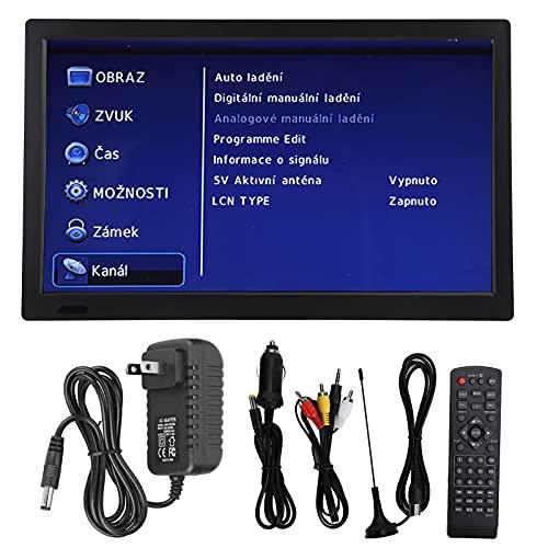 TV Digital portátil con Soporte Plegable, TV Digital ATSC de 13 '' TV Digital de Alta sensibilidad con función de Radio FM, para Acampar en el Coche al Aire Libre
