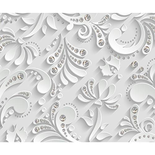 decomonkey Fototapete 3d Effekt 400x280 cm XL Tapete Fototapeten Vlies Tapeten Vliestapete Wandtapete moderne Wandbild Wand Schlafzimmer Wohnzimmer Muster Abstrakt Diamant Modern