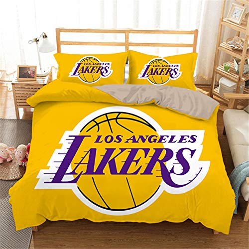 AMTAN Basketball Duvet Cover Set 3D Basketball Team Micro Design Bedding Set Kids Teenagers and Adults Bed Set Best Gift for Basketball Fans 1 Duvet Cover 2 Pillowcases Twin Size