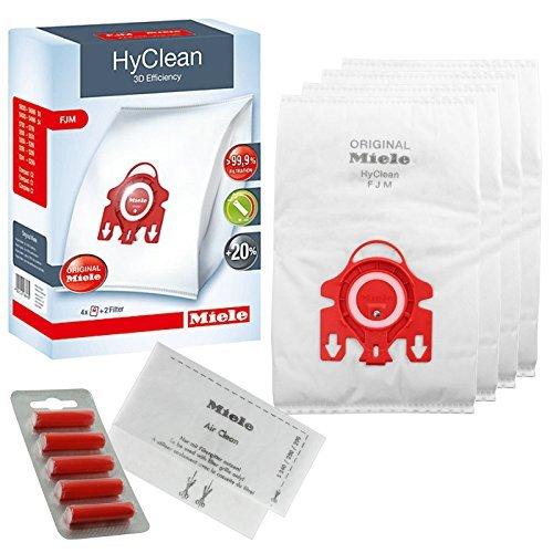 Original Miele FJM - HyClean 3D Effizienz Staubsauger Hoover Staub Staubsaugerbeutel (1, 2, 3, 4 oder 5 Boxen + optional Lufterfrischer) 1 Box + Fresheners