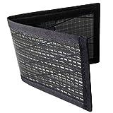 Flowfold Recycled Sailcloth Vanguard Bifold Wallet Durable Slim Wallet Front Pocket Wallet, Bifold (Black)
