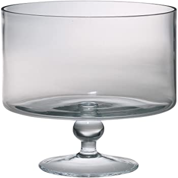 Majestic Gifts European Handmade Trifle Bowl, Large, Clear