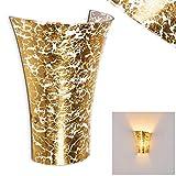 Aplique Terni de vidrio dorado - dormitorios - salón - pasillo
