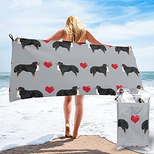 Dyfcnaiehrgrf Toalla de baño Bernese para perro de secado rápido, para baño, piscina, natación, viaje, silla de playa, 80 x 160 cm