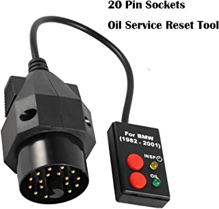 Obd Inspection Oil Service Reset Tool Car Diagnostic Scanner Tool Fault Detector for Bwm 1982-2001  20 Pin Sockets Oil Service Reset Scan Diagnostic Tool for Bmw E30 E34 E36 E39 Z3