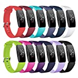 Compatible with Fitbit Inspire HR/Inspire 2/Inspire/Ace 2 Fitness Tracker Watch Bands,Five Star Online Soft Silicone Replacement Bands Wristbands Watch Strap for Women Girls(12PCS,Small: 5.5'' -6.7'')