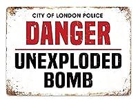 危険爆弾 メタルポスタレトロなポスタ安全標識壁パネル ティンサイン注意看板壁掛けプレート警告サイン絵図ショップ食料品ショッピングモールパーキングバークラブカフェレストラントイレ公共の場ギフト
