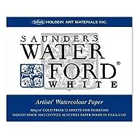 ホルベイン ウォーターフォード水彩紙 ブロック 中紙300g(中厚口) 中目 ホワイト 12枚とじ 270-935 EHB-F8