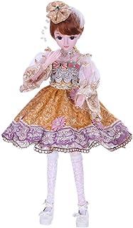 Muñeca articulada, Muñeca de BJD de Escala 60cm 24inch Jointed Dolls BJD Dolls Full Set Toy Night Birthday Gift + Full Set Accessories + Shoes + Hair + Clothes