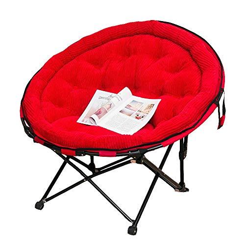 FUFU Patio Lounge Chairs Lounge Chair, Lunch Break Folding Chair Back Chair Moon Chair Sun Lounger Leisure Lazy Couch Chair 56 * 61 * 90cm Durable