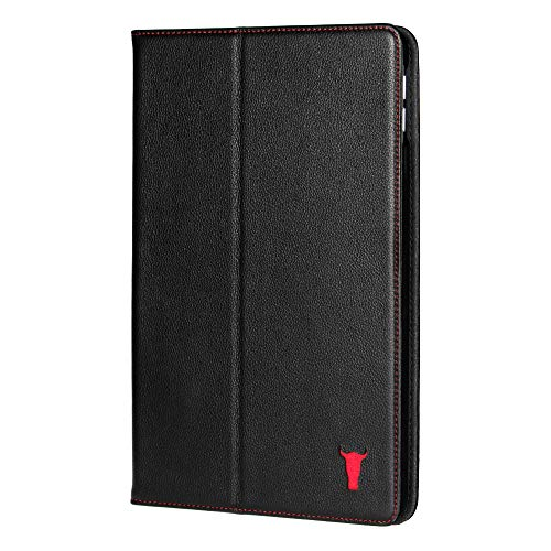 TORRO Lederhülle Kompatibel mit Apple iPad Mini 5 hochwertiges Leder mit [ Mehrere Betrachtungswinkel] [Wake/Sleep aktiviert] 7.9 Zoll Ausgabe 2019 (Schwarz)