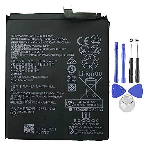 Ellenne Batteria Compatibile con Huawei P30 Ascend HB436380ECW Alta capacità 3650MAH con Kit...