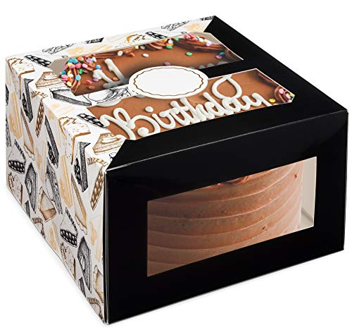Reviluxe Cake Boxes with Window 10 x 10 x 6